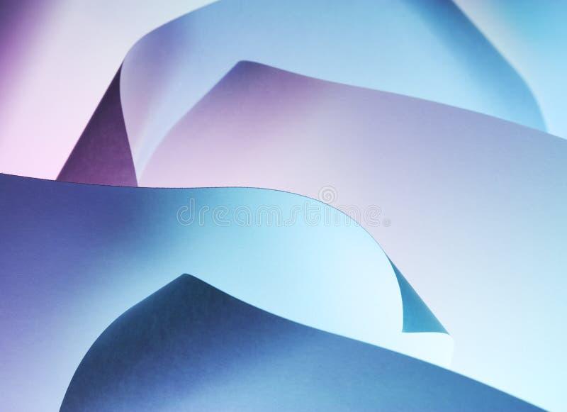 Auszug gekräuselter Papierhintergrund stockfotos