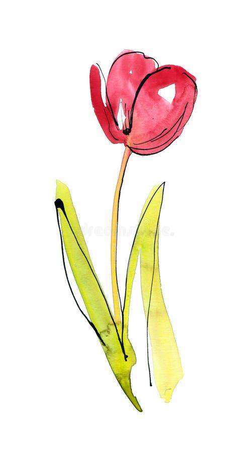 Auszug gemalter Blumenhintergrund lizenzfreie abbildung