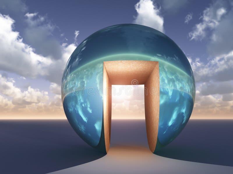 Auszug - offene Tür des Glücks stock abbildung