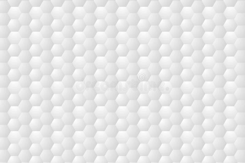 Auszug Pr?geartiges Hexagon, Bienenwabe wei?er Hintergrund Vektorabbildung EPS10 stock abbildung