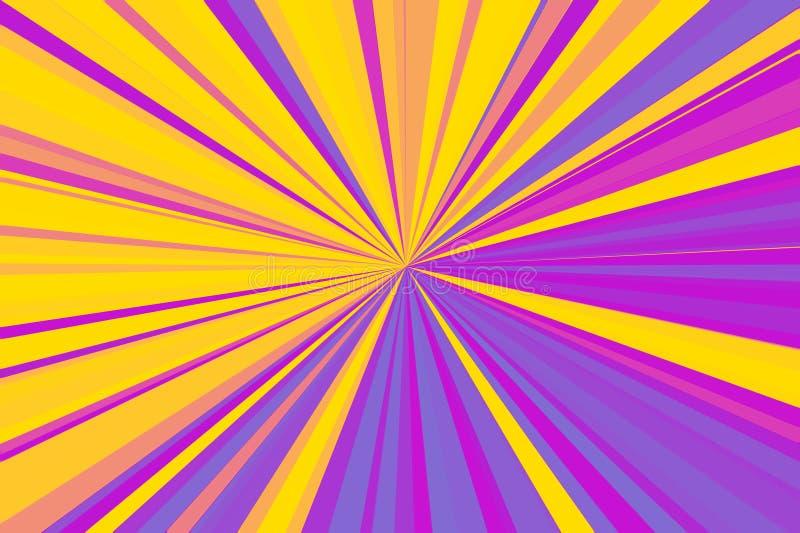Auszug rays Hintergrund Designeffektschablone Modernes modisches Muster Buntes Streifenstrahlnmuster Stilvolles Illustration mode stockfotografie