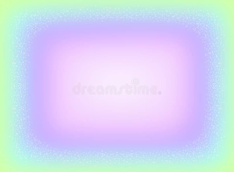 Auszug unscharfer Hintergrund Dekorativer Rahmen in den Pastellfarben vektor abbildung