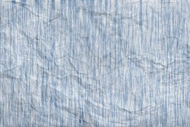 Auszug zerknitterte blau-graue Papierbeschaffenheit. stockfotografie