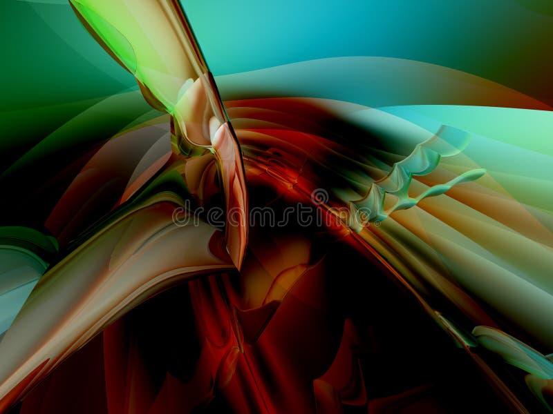 Auszugs-Hintergrund der Farben-3D lizenzfreie abbildung