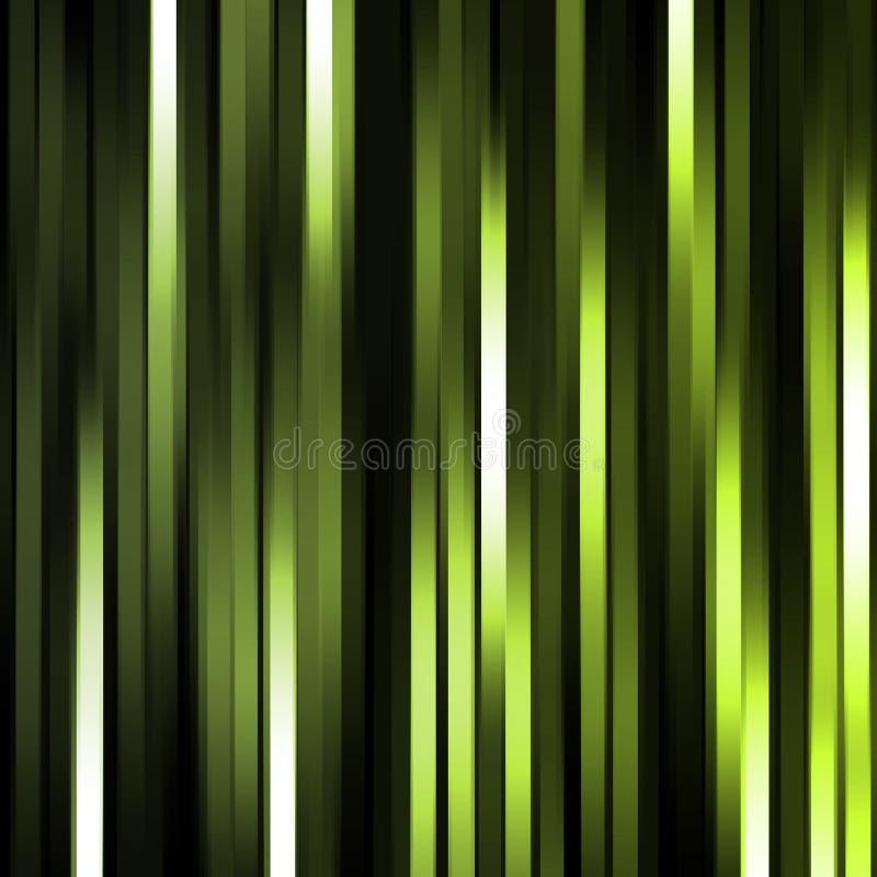 Auszugshintergrund der grünen Leuchte stock abbildung