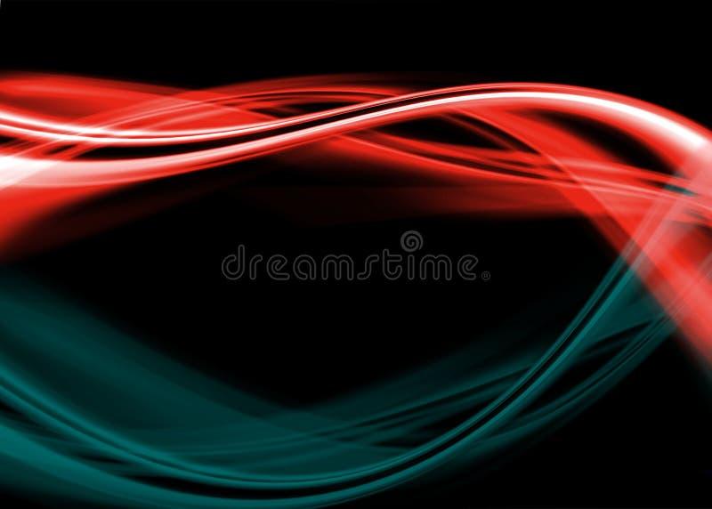Auszugshintergrund des blauen Rotes lizenzfreie abbildung