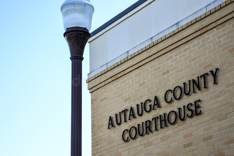 Autauga County Gericht - horizontal lizenzfreie stockbilder