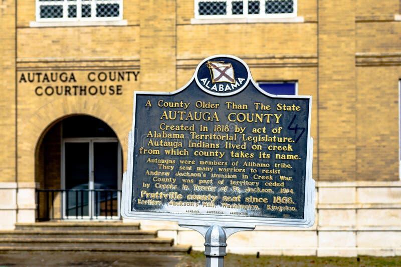 Autauga County historische Markierung stockbild