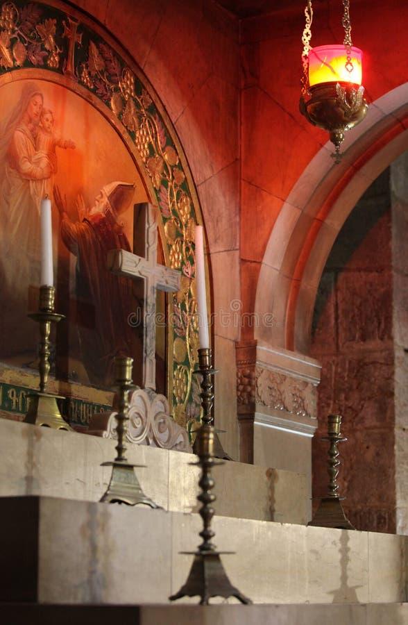 Autel à l'église de la tombe sainte photos stock