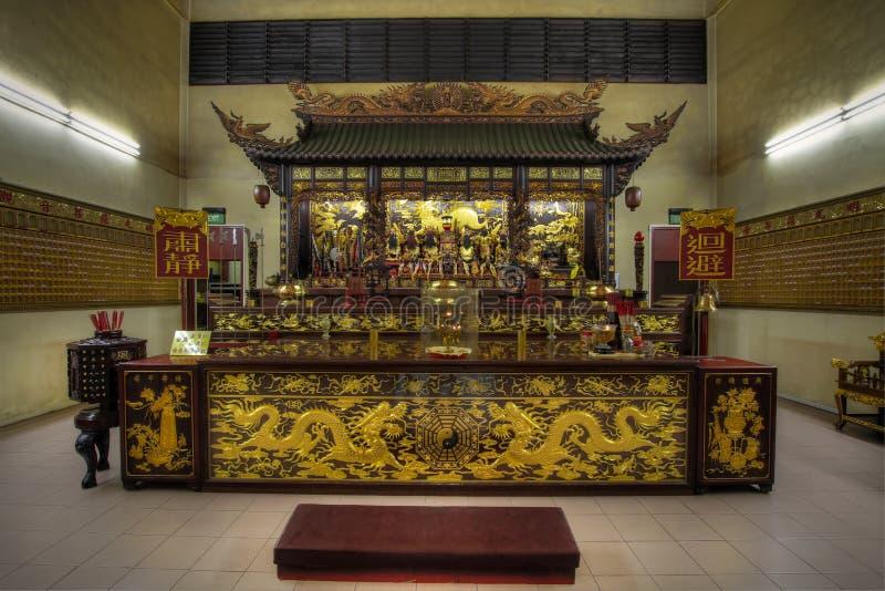 Autel chinois de temple des dieux images libres de droits