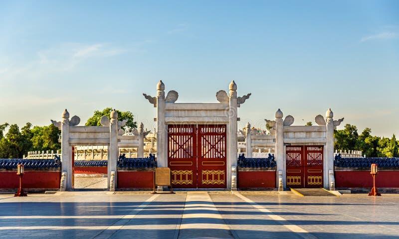 Autel circulaire de monticule chez le temple du Ciel dans Pékin images libres de droits