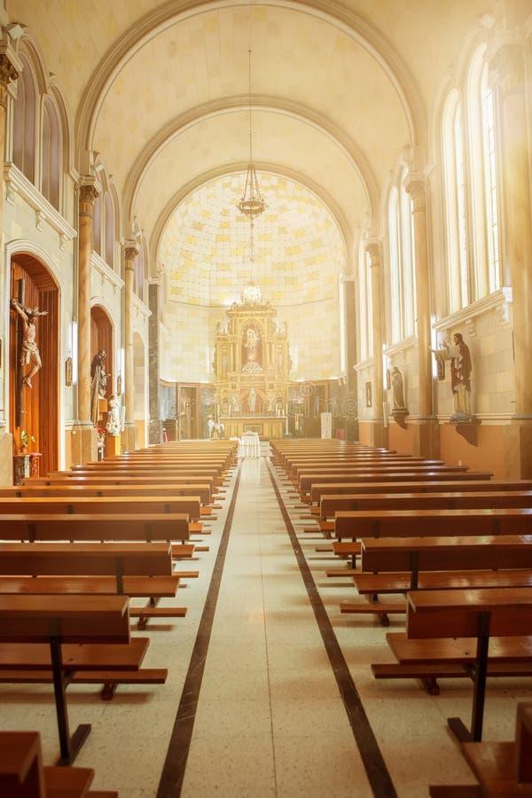 Autel d'église photo libre de droits