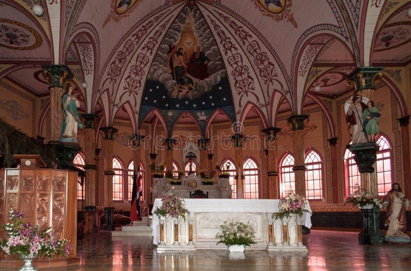 Autel d'église de Costa Rica Alajuela images stock