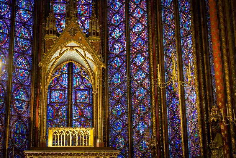 Autel dans Sainte-Chapelle photos stock