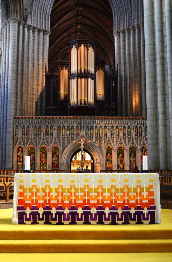 Autel de cathédrale de Ripon images libres de droits