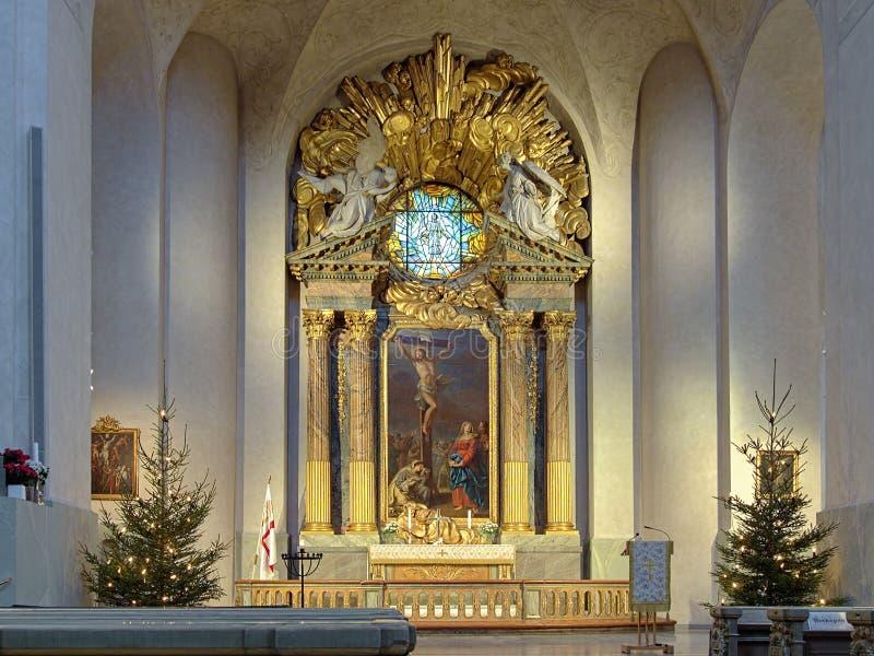 Autel de Hedvig Eleonora Church à Stockholm photographie stock libre de droits