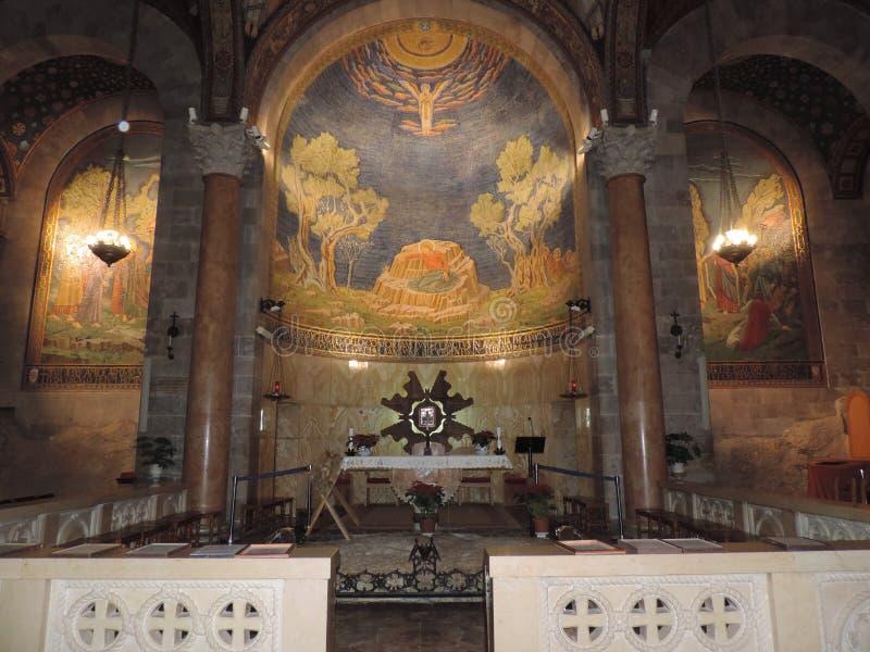 Autel de l'église de toutes les nations, Jérusalem photographie stock