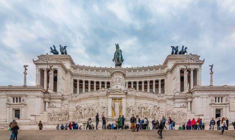 Autel de la patrie à Rome Italie photo libre de droits