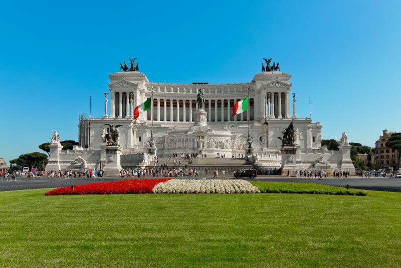 Autel de la patrie à Rome par jour photo libre de droits