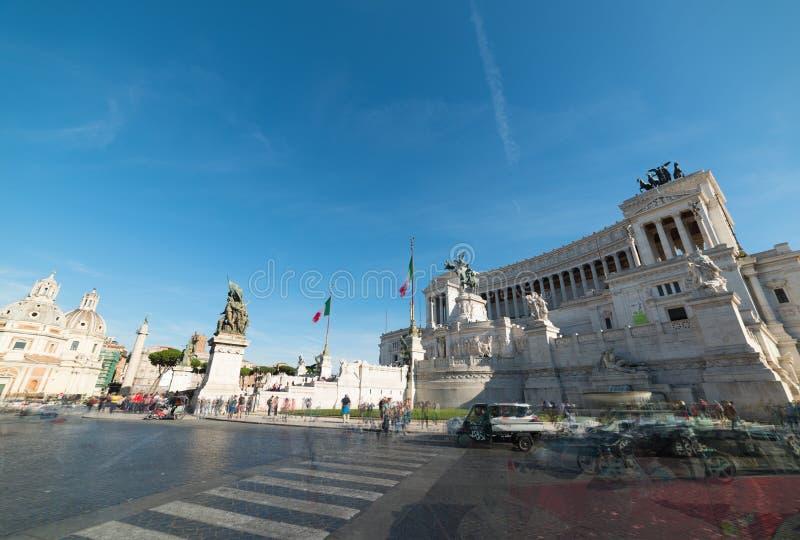 Autel de la patrie dans Piazza Venezia photographie stock