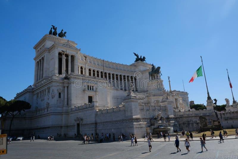 Autel de la patrie de Piazza Venezia à Rome, Italie photographie stock