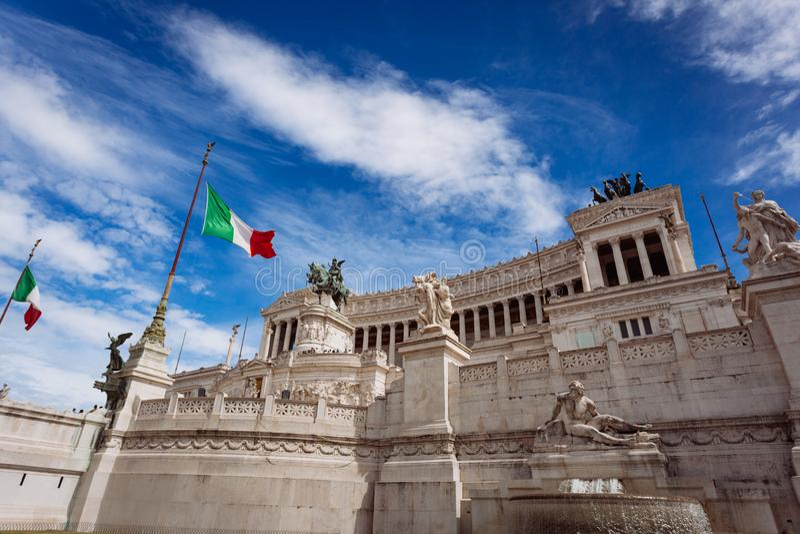 Autel de la patrie sur Piazza Venezia à Rome photo libre de droits