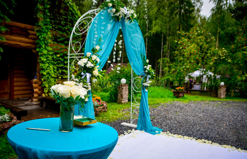 Autel de mariage photographie stock