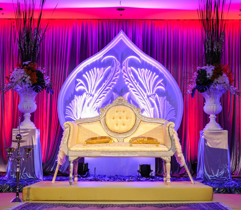 Autel de mariage, concept malais de mariage photographie stock libre de droits