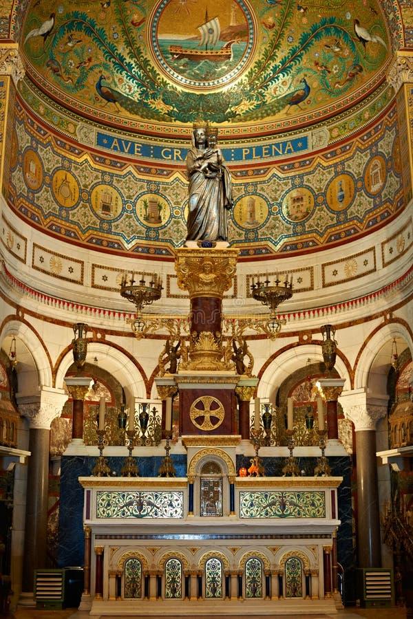 Autel de Notre Dame de la grade image libre de droits
