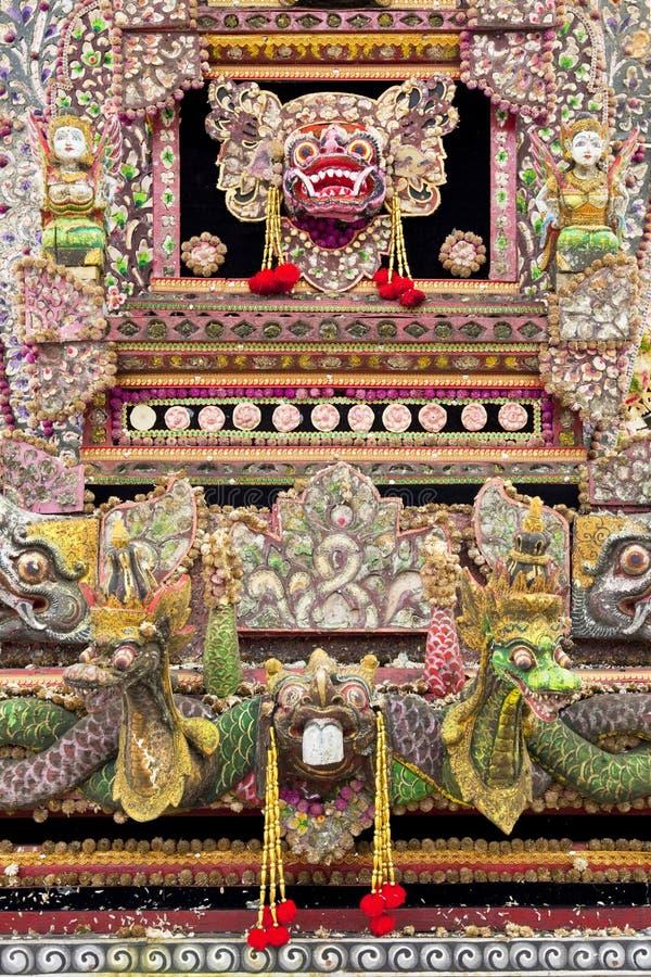 Autel de prière, Pura Ulun Danu Batur, Bali photographie stock