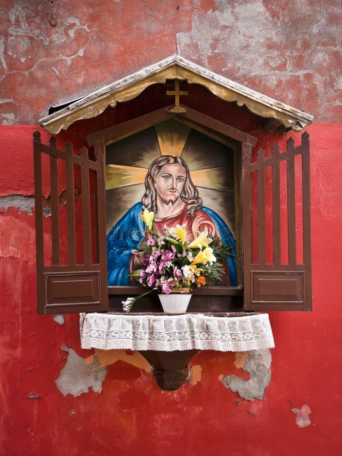Autel de rue à Venise images libres de droits