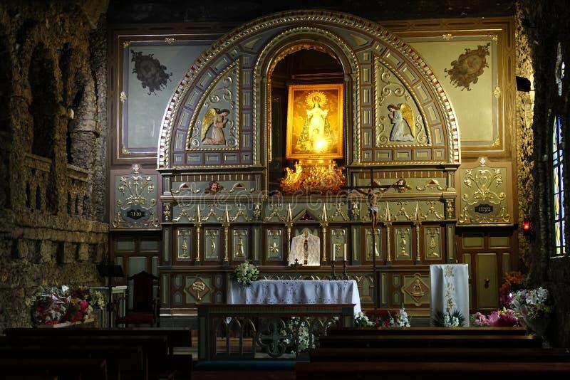 Autel de sanctuaire Santuario Virgen de la Esperanza près de Calasparra, Espagne image stock