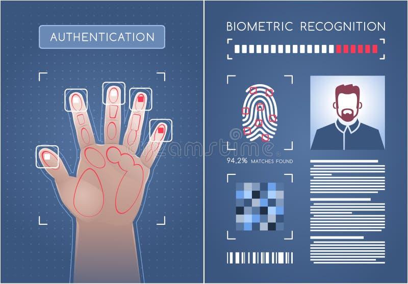 Autenticação biométrica ilustração royalty free