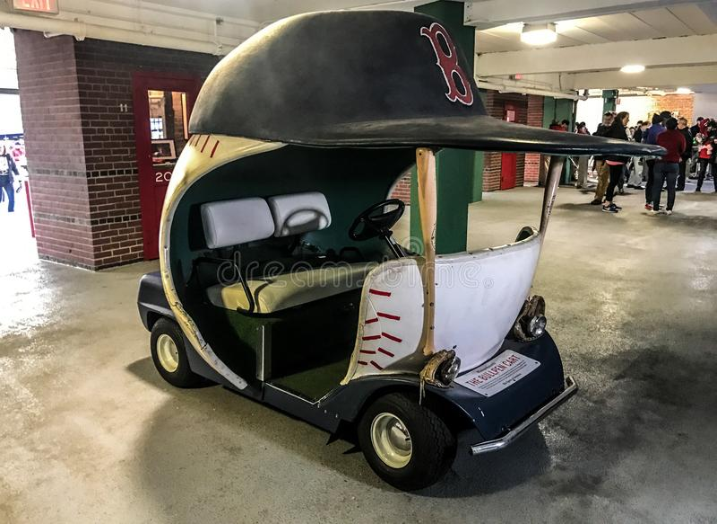 Autentisk Boston Red Sox bullpenvagn arkivfoto