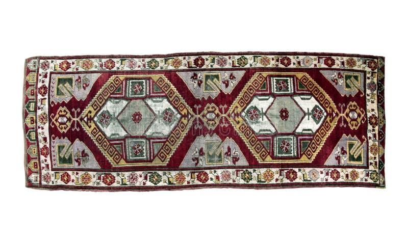 Autentisk handgjord turkisk matta arkivbild