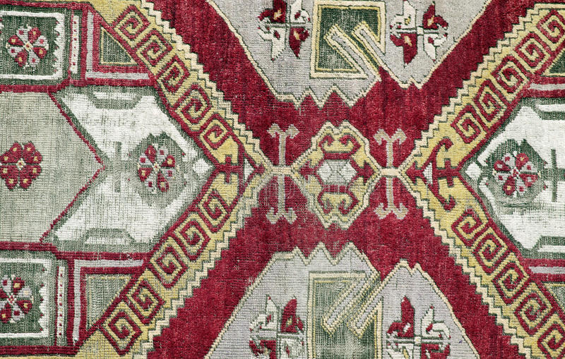 Autentisk handgjord turkisk matta royaltyfri fotografi
