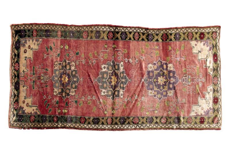 Autentisk handgjord turkisk matta fotografering för bildbyråer