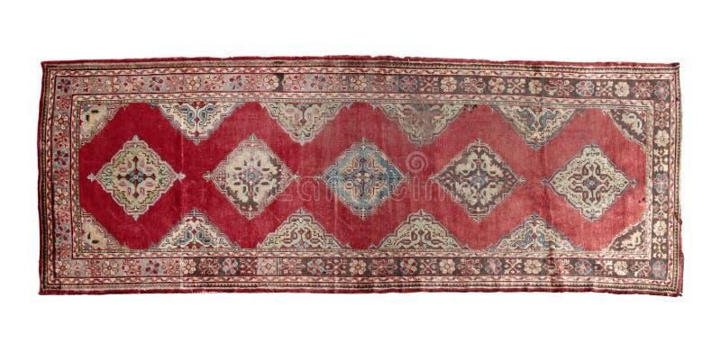 Autentisk handgjord turkisk matta arkivfoto