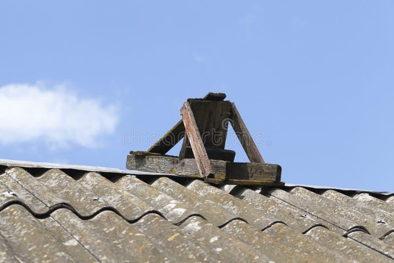 autentisk trätrappuppgång arkivfoto
