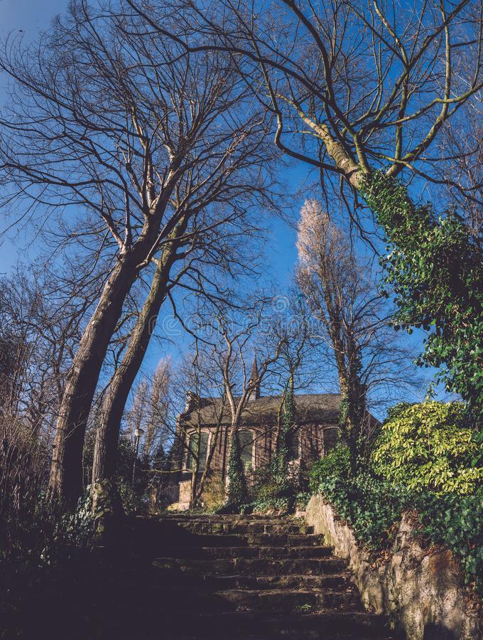 Autentyczna Kamienna kaplica w Ghent, Belgia obraz stock