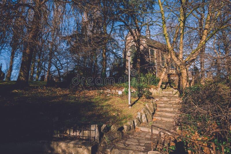 Autentyczna Kamienna kaplica w Ghent, Belgia fotografia stock