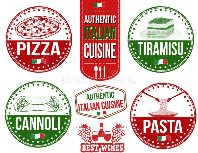 Autentyczne włoskie kartki żywnościowa ilustracji