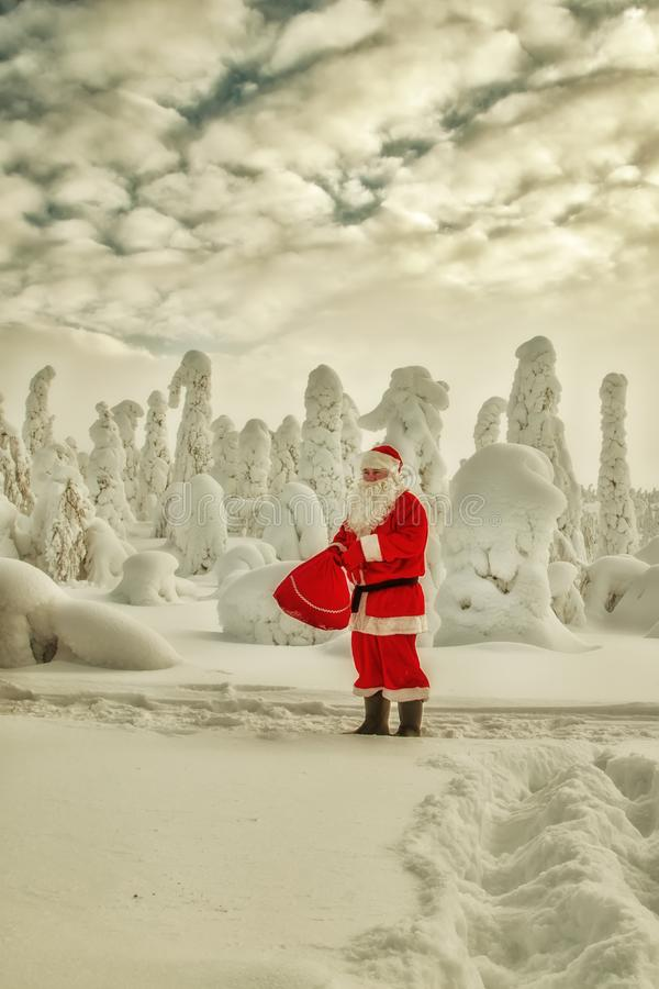 Autentyczny Święty Mikołaj w Lapland zdjęcia royalty free