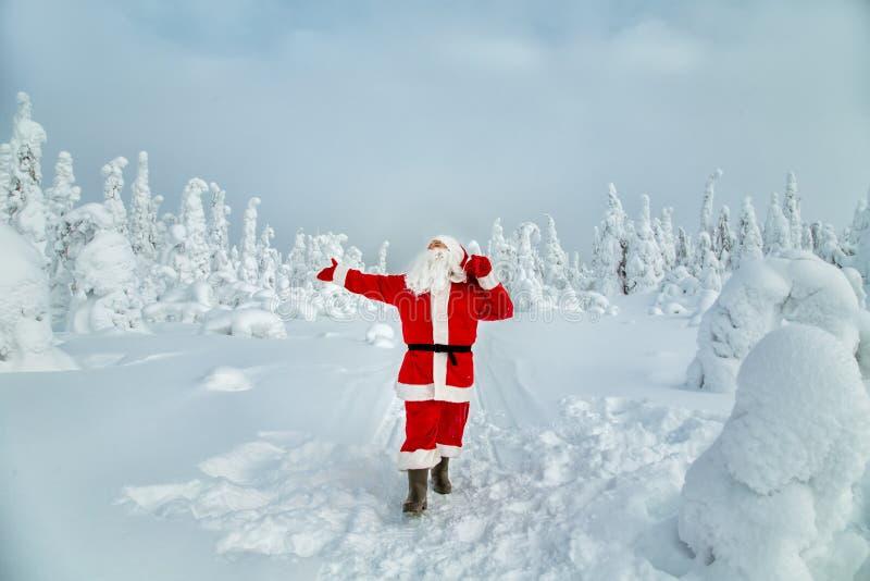 Autentyczny Święty Mikołaj w Lapland obraz stock