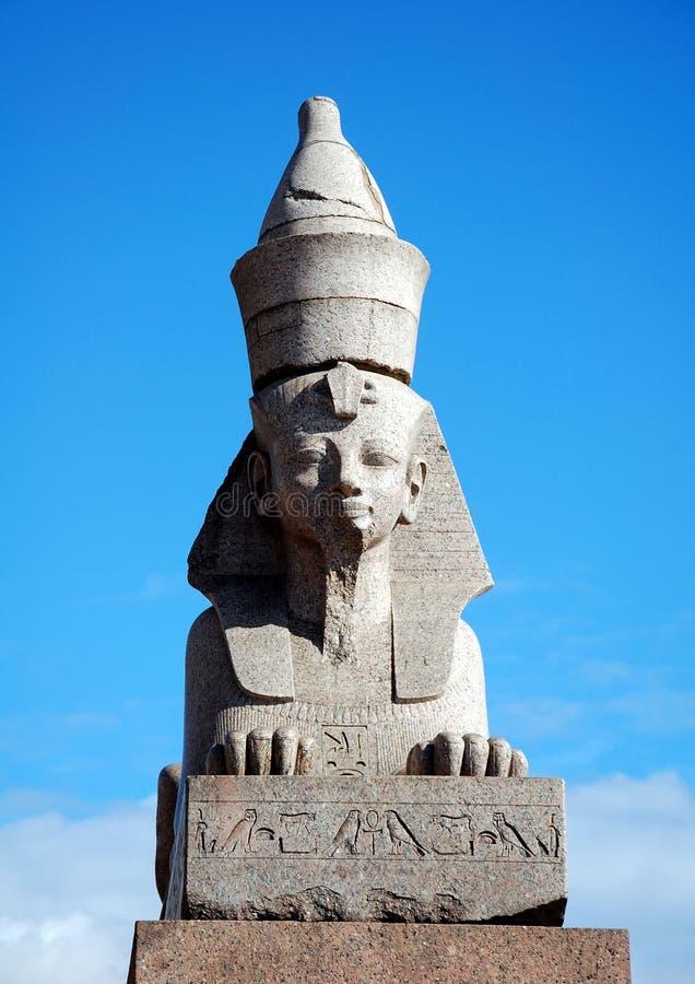 Autentyczny antykwarski Egipski sphynx zdjęcie stock