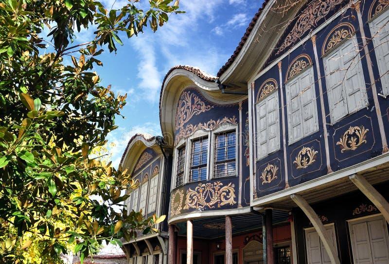 autentyczny domowy stary Plovdiv zdjęcia stock