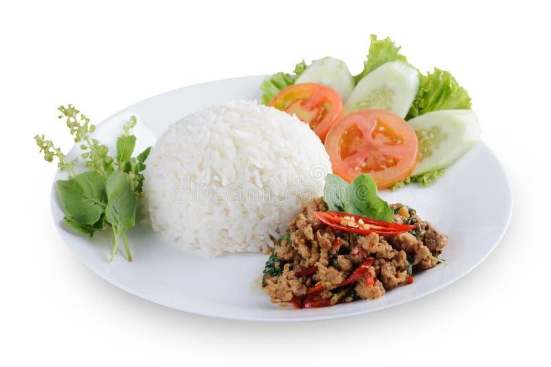 Autentyczny Tajlandzki basila kurczaka przepis obrazy stock