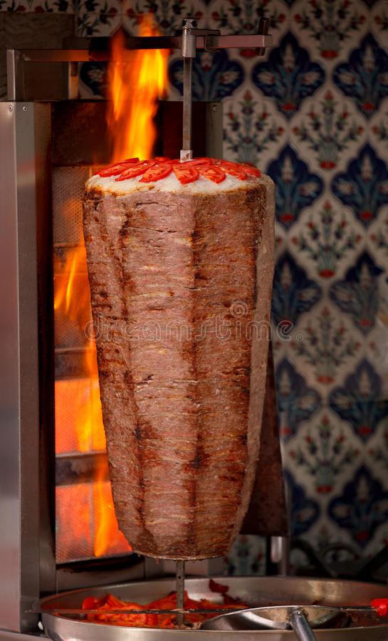 Autentyczny turecki doner kebab zdjęcia royalty free