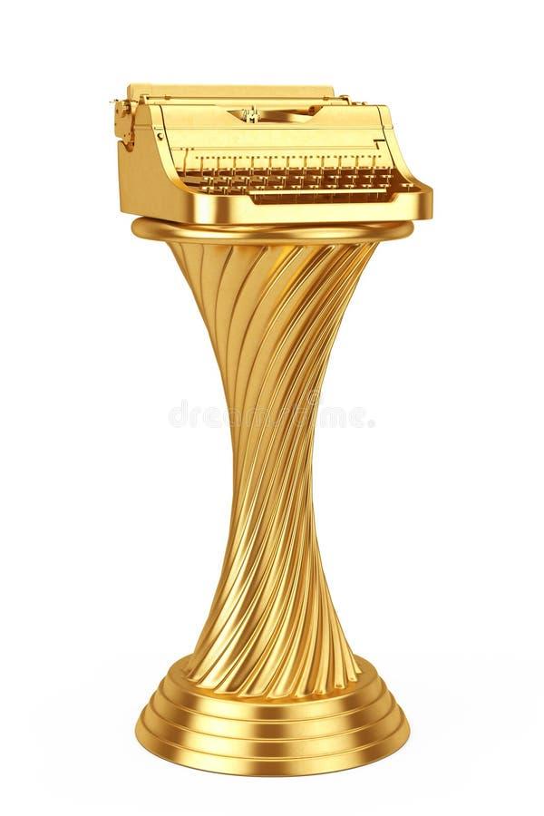 Auteur Award Concept Rétro type de récompense vintage d'or de trophée de vieux illustration libre de droits