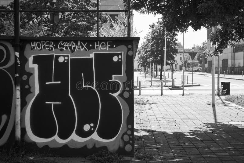 Auteur de rue photographie stock libre de droits